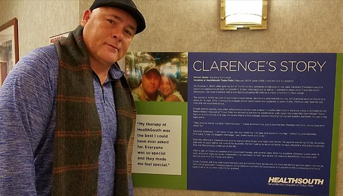 Clarence Thompson at Encompass Health Rehabilitation Hospital of Titon Falls