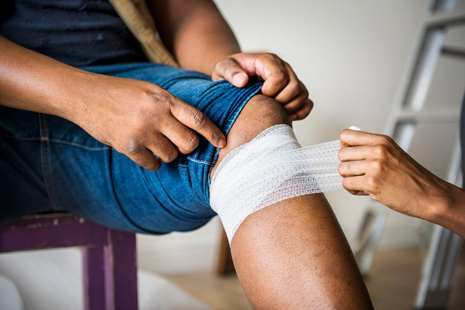 Wound care by a certified nurse