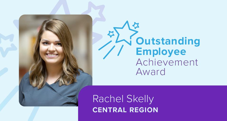 Rachel Skelly, Encompass Health's 2019 Outstanding Employee Achievement Award Winner, Central Region