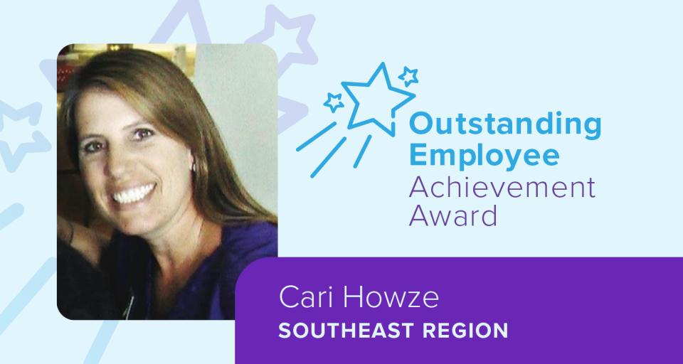 Cari Howze, Outstanding Employee Achievement Award winner, Southeast region