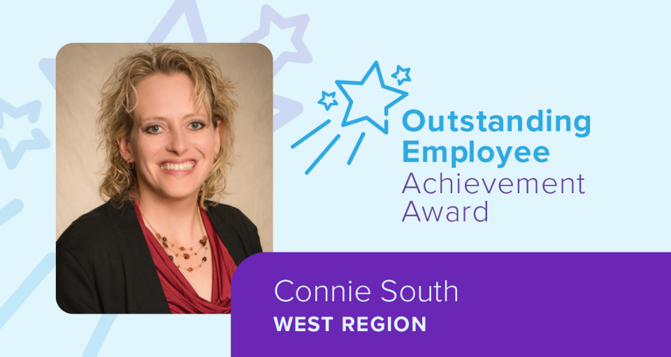 Connie South won Encompass Health's Outstanding Employee Achievement Award for the West region.