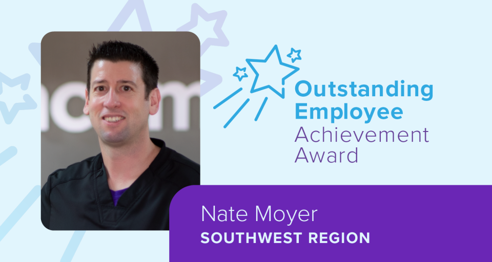 Nate Moyers, Outstanding Employee Achievement Award winner, Southwest