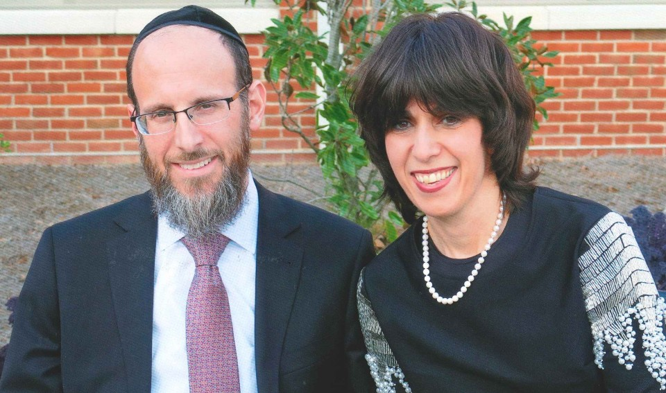 Eli Gold & husband dressed up for their son's bar mitzvah