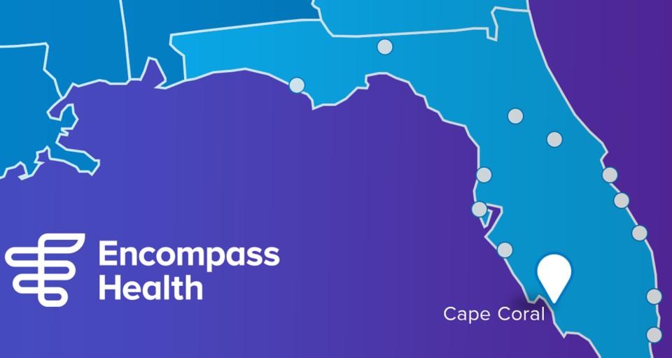 New Encompass Health Rehabilitation Hospital location in Cape Coral, Florida